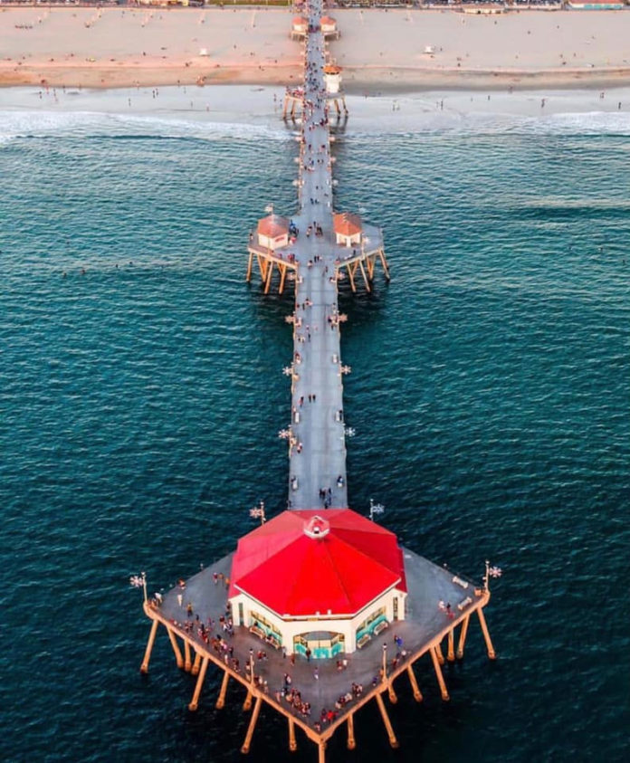 Huntington Beach Pier Aerial View
