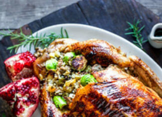 Rosemary Pomegranate Maple Glazed Roasted Turkey