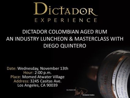 Dictador Colombian Rum Industry Luncheon @ Momed Atwater Village - Los Angeles | Los Angeles | California | United States