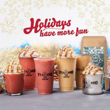New Festive Flavors for Holiday Beverage Lineup @ It's A Grind - Long Beach | Long Beach | California | United States
