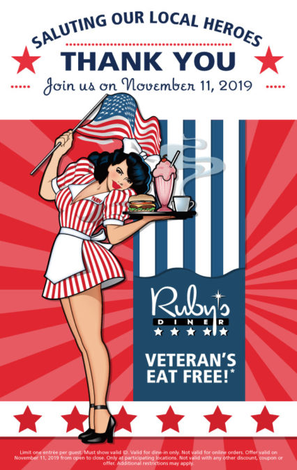 Veterans Eat For Free! @ Ruby's Diner - Laguna Beach