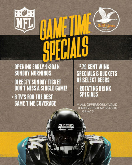 All Day Sunday Game Time Special @ Wild Goose Tavern - Costa Mesa