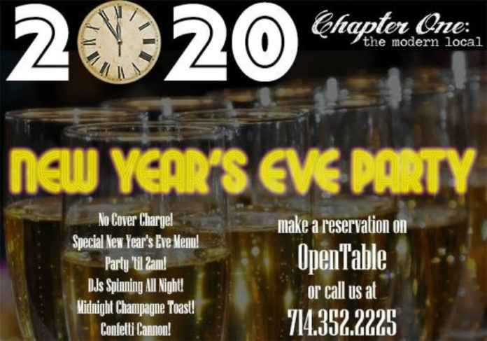 Chapter One Nye Party 2020