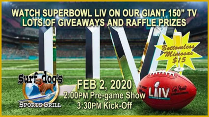 Super Bowl Giveaway and Raffle @ Surf Dog's Sports Grill - Huntington Beach | Huntington Beach | California | United States