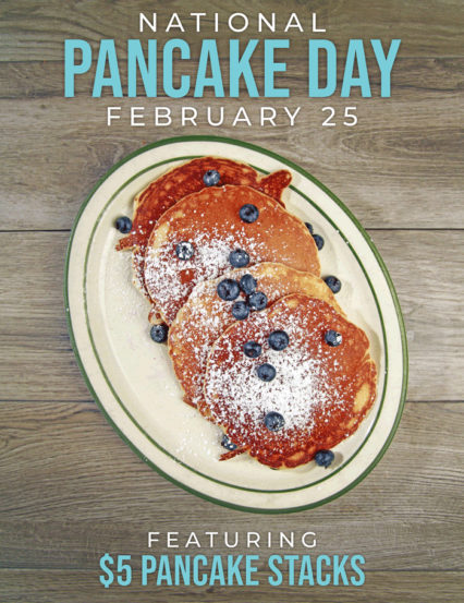 $5 Pancake Stacks on National Pancake Day @ Mama's Comfort Food & Cocktails - Newport Beach
