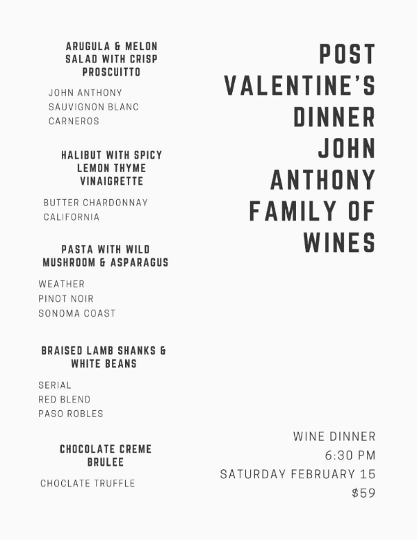 John Anthony Family Of Wines Valentines Day
