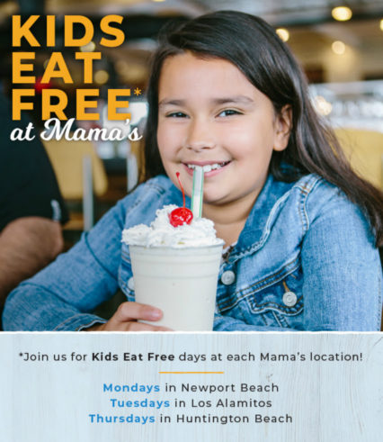 Every Thursday Kids Eat Free @ Mama's on 39 Restaurant - Huntington Beach | Huntington Beach | California | United States