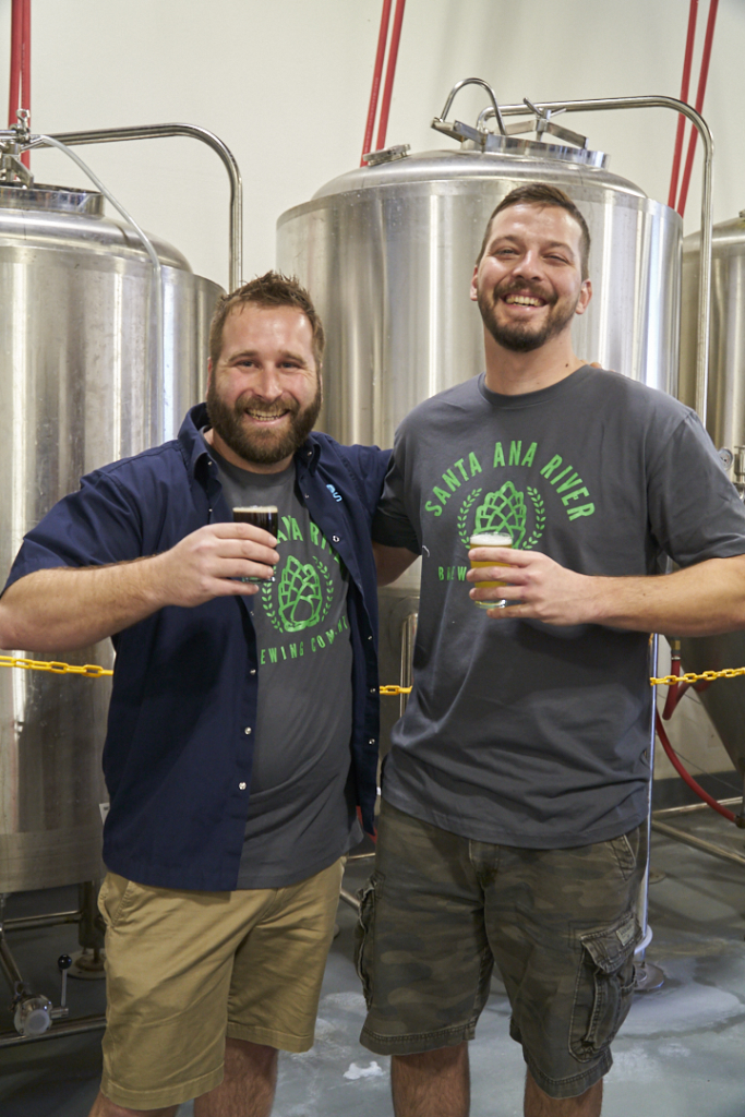 Santa Ana River Brewing Owners Geoff Brand And Mike Miller