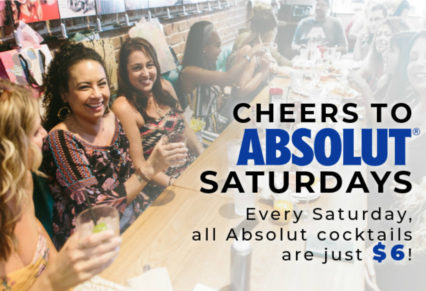 Saturday $6 Absolut Cocktails @ Mama's on 39 Restaurant - Huntington Beach | Newport Beach | California | United States