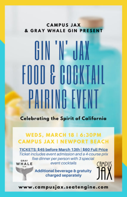 Food and Cocktail Pairing @ Campus Jack's - Newport Beach