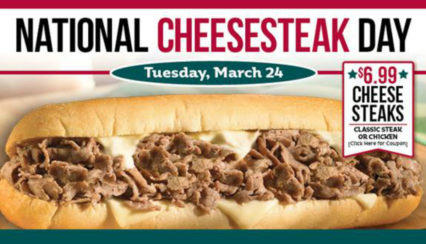 National Cheesesteak Day Deal @ Philly's Best - Fountain Valley