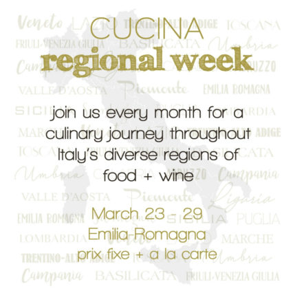 Regional Week: Dinner and Wine @ Cucina Enoteca - Irvine