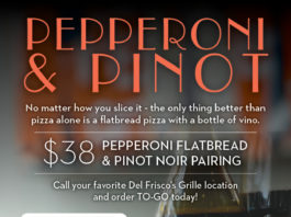 Del Frisco's Pepperoni And Pinot Pairing