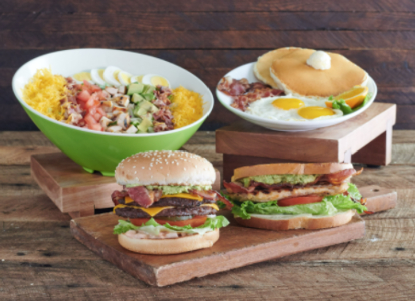 Farmer Boys Cobb Burger Sandwich Breakfast