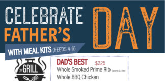 Bad To The Bone Father's Day Menu