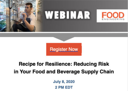 Reducing Risk in Your Food and Beverage Supply Chain @ Virtual Events