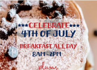 Plums Cafe 4th Of July