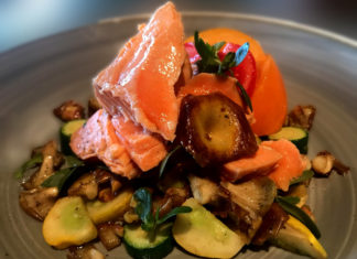 Chilled Poached Arctic Char And Summer Vegetables