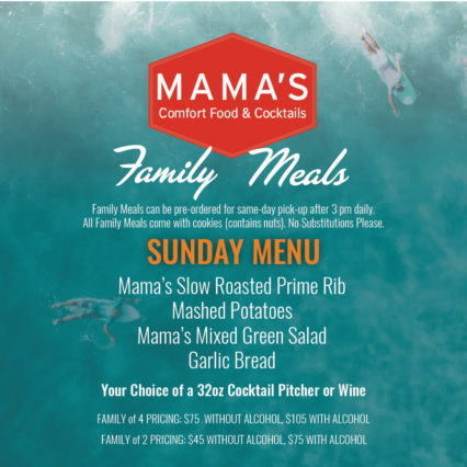 Family Meals on Sunday @ Mama's on 39 Restaurant - Huntington Beach