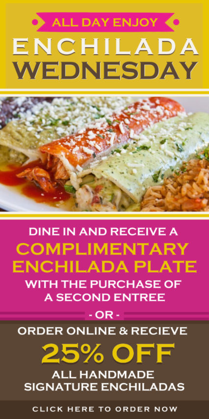 It's Enchilada Wednesday! @ Cha Cha's Latin Kitchen - Irvine