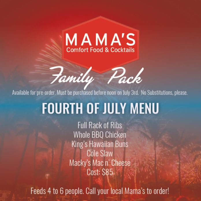Mama's Fourth Of July Family Pack Menu (1)