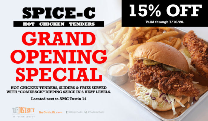 Spice C Hot Chicken Tenders Grand Opening