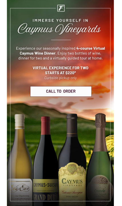 Have You Tried Fleming's Virtual Caymus Wine Dinner Yet? @ Flemings Prime Steakhouse - Newport Beach | Newport Beach | California | United States