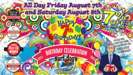 Celebrating Seven Years! @ Surf Dog's Sports Grill - Huntington Beach | Huntington Beach | California | United States