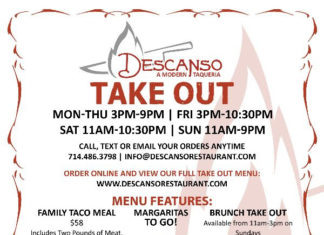 Descanso Take Out Ordering