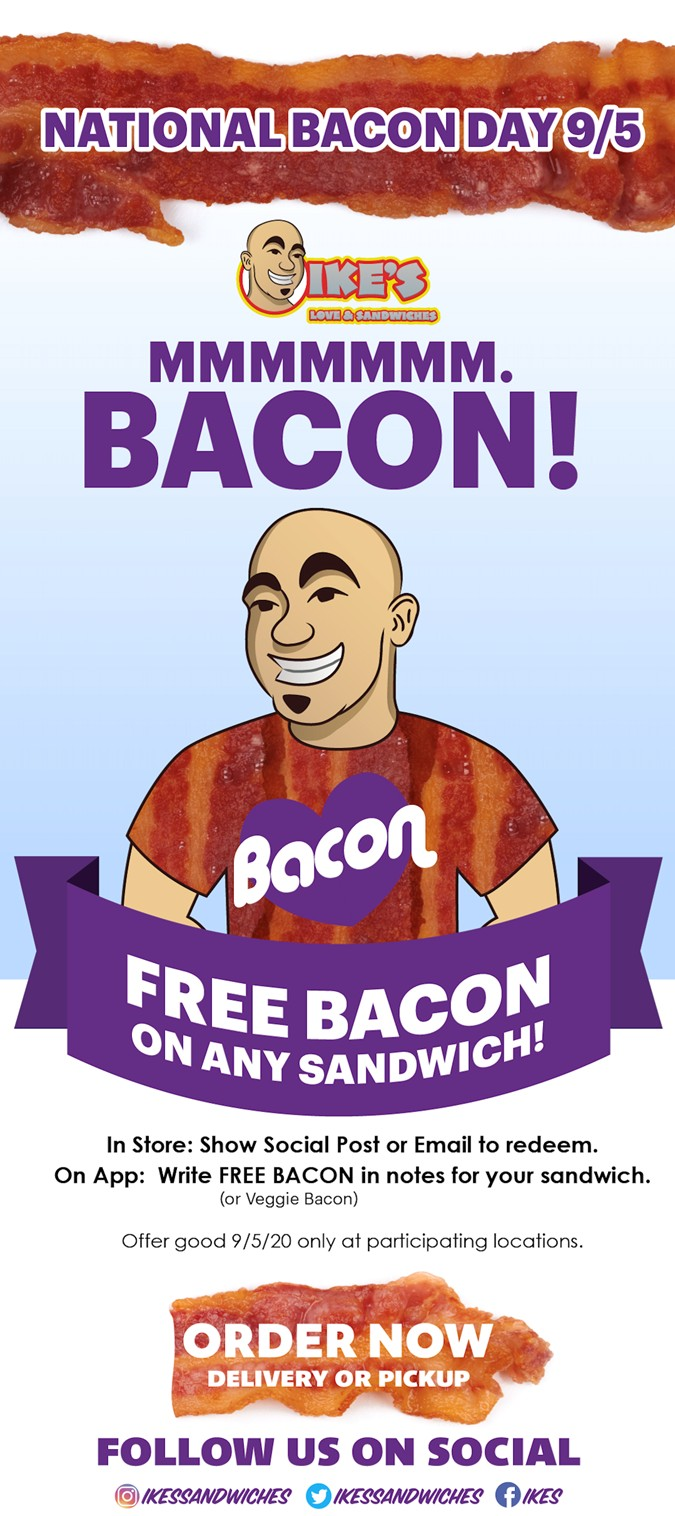 Free Bacon For National Bacon Day