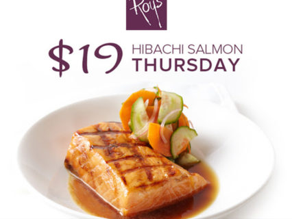 Hibachi Grilled Atlantic Salmon, Only $19 On Thursdays @ Roy's Hawaiian Fusion Cuisine - Newport Beach