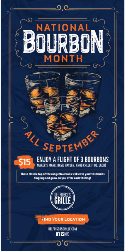 National Bourbon Month All September Long @ Del Frisco's Grille - Irvine | Irvine | California | United States