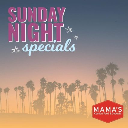 Prime Rib and Wine Sunday Night Special @ Mama's on 39 all locations