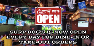 Surf Dog's Indoor Dining