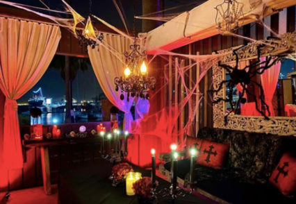 """Creepy Cabana"" Halloween Dining @ Fuego at Hotel Maya - Long Beach 