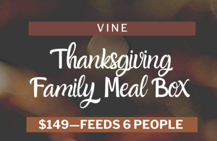 Vine Restaurant Thanksgiving Meal