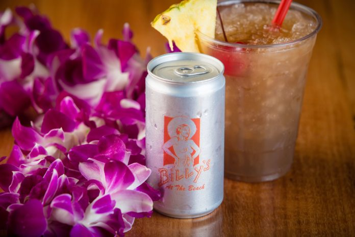 Billy's at the Beach Canned Mai Tais