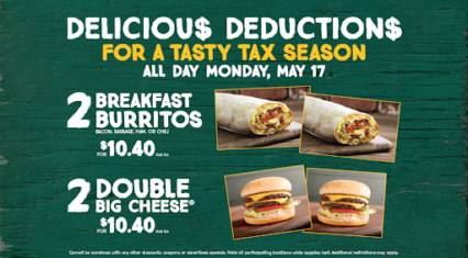 Delicious Deductions from Farmer Boys this Tax Day!